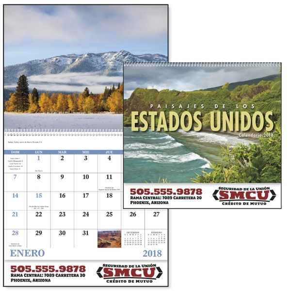 Customized Paisajes de los Estados Unidos(Spanish) Appointment Calendar