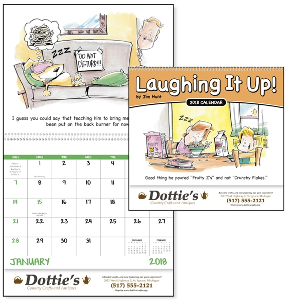 Custom Laughing It Up! - Spiral  Appointment Calendar