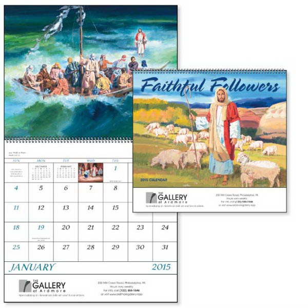 Printed Faithful Followers - Spiral  Appointment Calendar