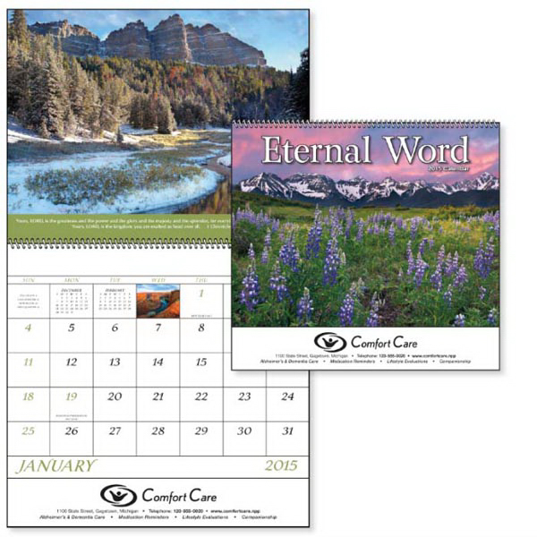 Imprinted Eternal Word with Pre-Planning Sheet - Spiral  Calendar