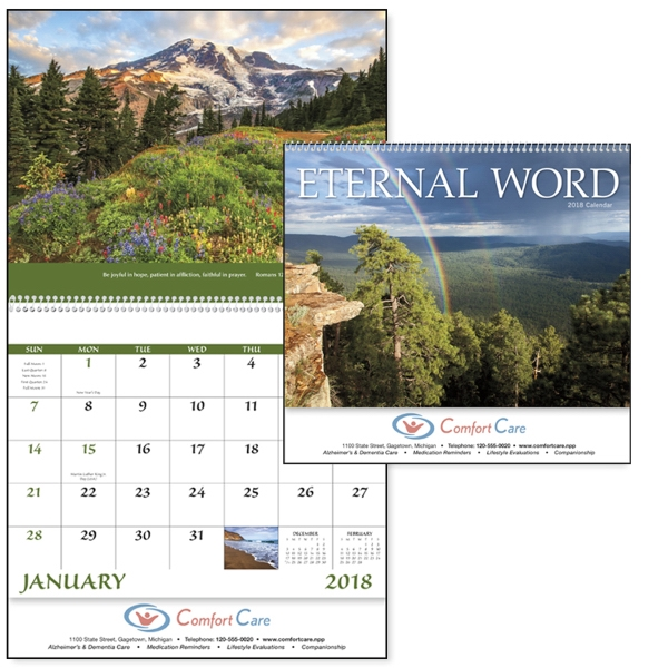 Imprinted Eternal Word without Funeral Planner -  Appointment Calendar