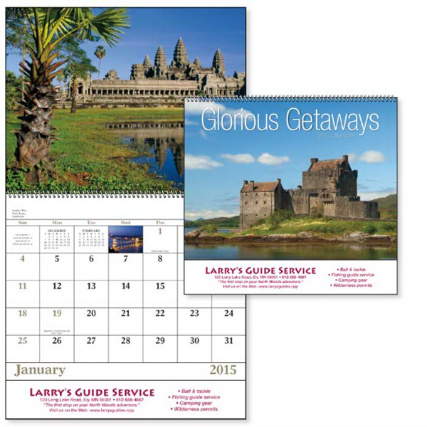Promotional Glorious Getaways - Spiral Appointment Calendar