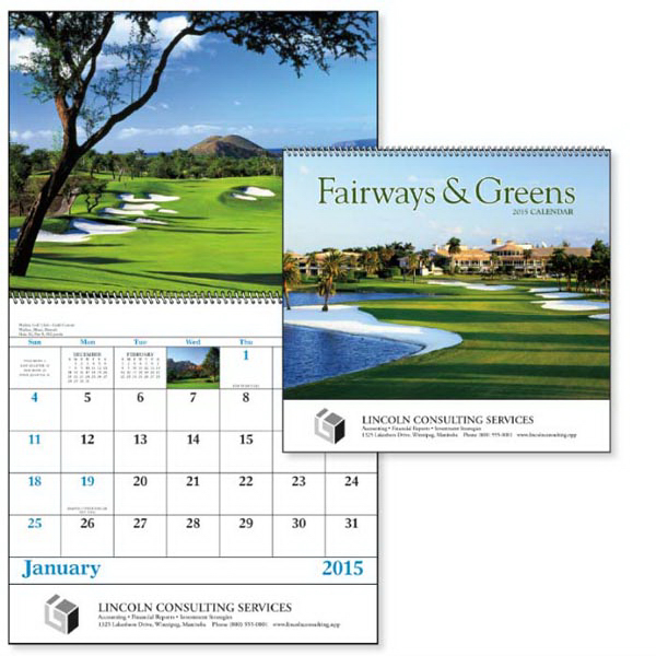 Customized Fairways & Greens - Spiral Appointment Calendar