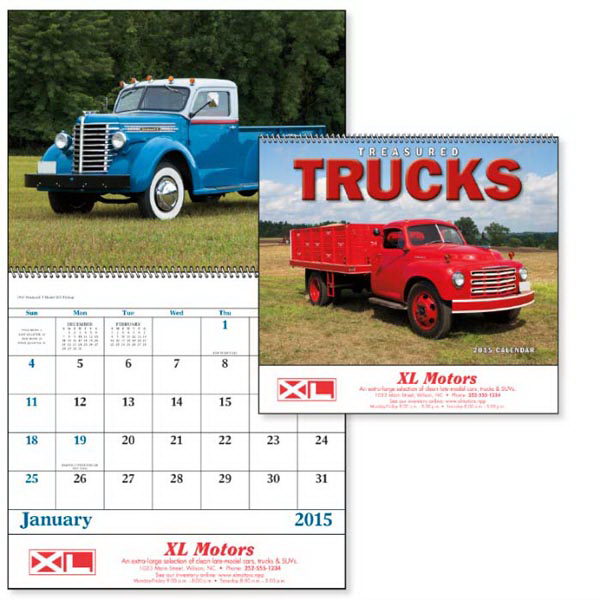 Personalized Treasured Trucks - Spiral Appointment Calendar