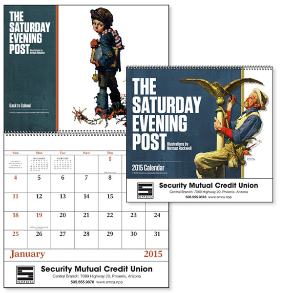 Imprinted The Saturday Evening Post - Spiral Appointment Calendar