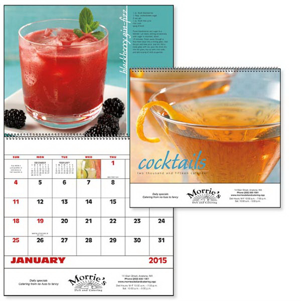 Custom Cocktails - Spiral Appointment Calendar