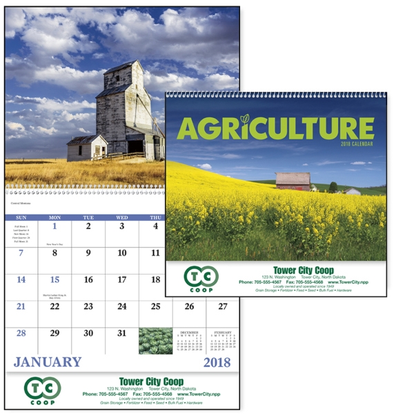 Personalized Agriculture - Spiral Appointment Calendar