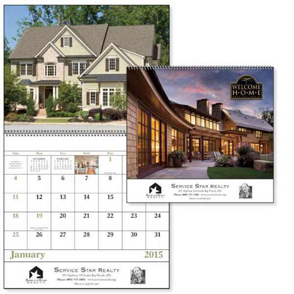 Printed Welcome Home - Spiral Appointment Calendar