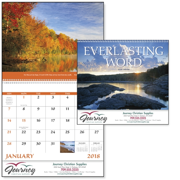 Promotional Everlasting Word with Funeral Pre-Planning Form Calendar