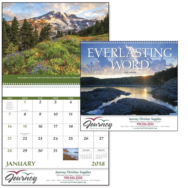Promotional Everlasting Word Calendar without Funeral Pre-Planning Form
