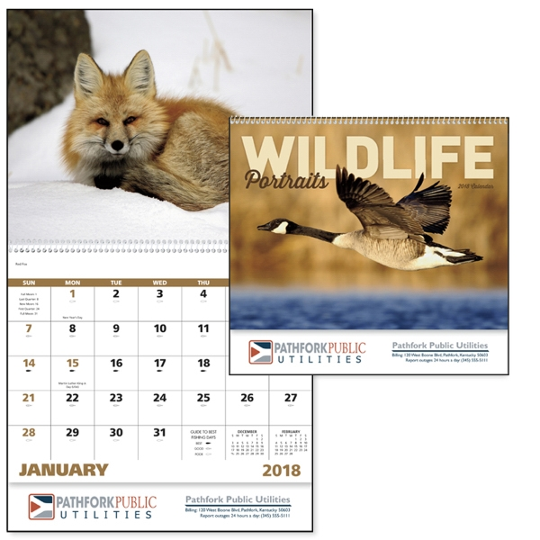 Promotional Wildlife Portraits - Spiral Appointment Calendar