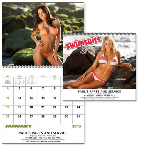 Printed Swimsuits - Spiral Appointment Calendar