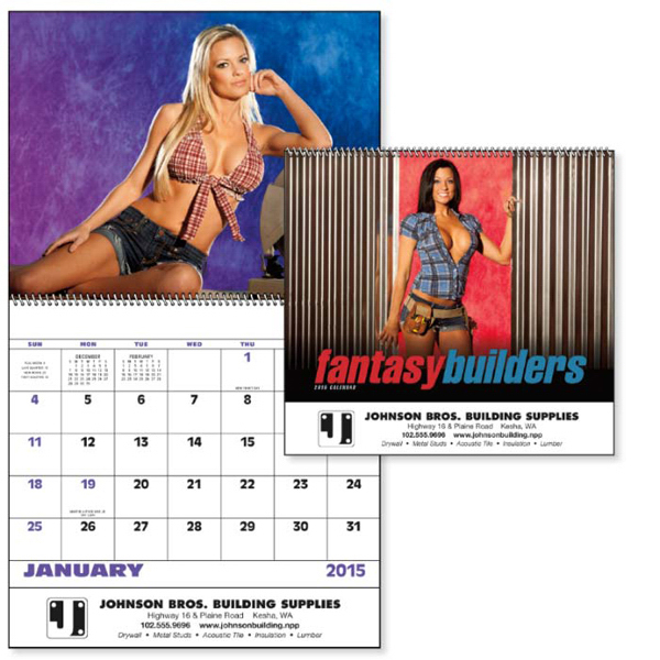 Imprinted Fantasy Builders - Spiral Appointment Calendar