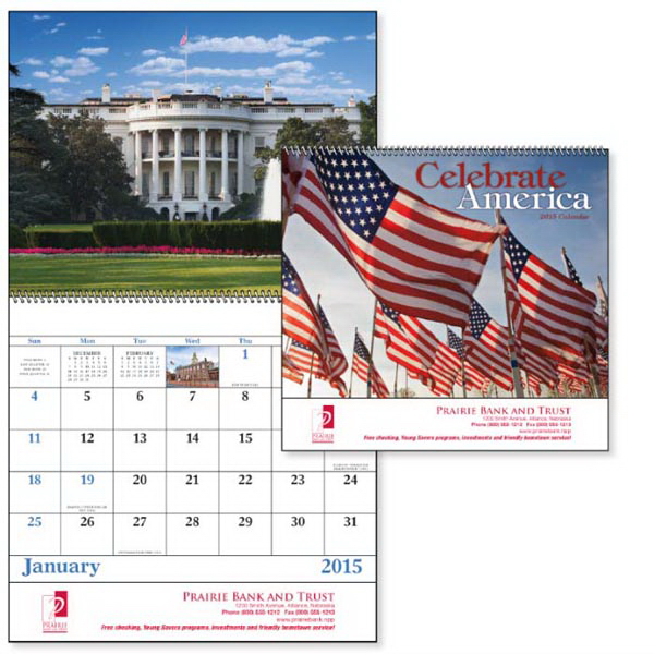 Promotional Celebrate America - Spiral Appointment Calendar