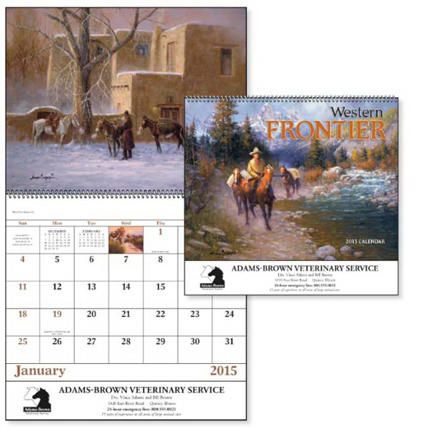 Promotional Western Frontier - Spiral Appointment Calendar