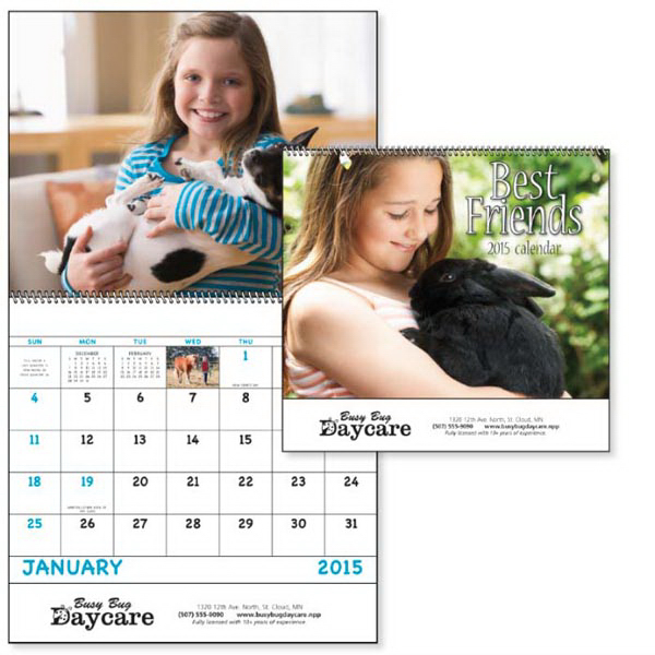 Customized Best Friends - Spiral Appointment Calendar