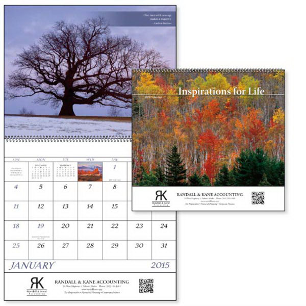Promotional Inspirations for Life - Spiral Appointment Calendar