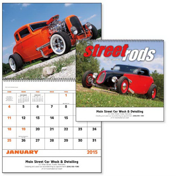Printed Street Rods - Spiral Appointment Calendar