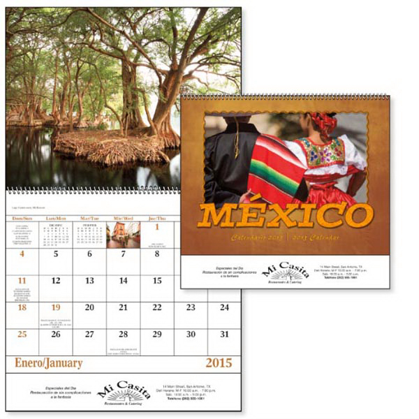 Personalized Mexico - Spiral Appointment Calendar