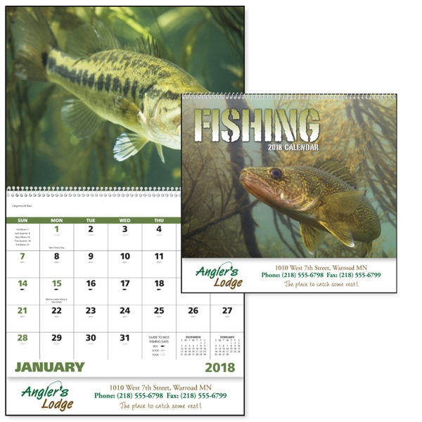 Custom Fishing - Spiral Appointment Calendar