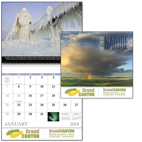 Promotional The Power of Nature - Spiral Appointment Calendar