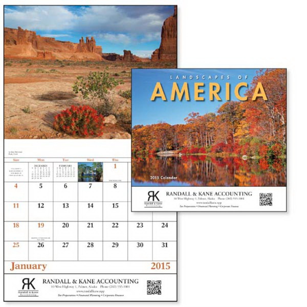 Personalized Landscapes of America - Stapled Appointment Calendar