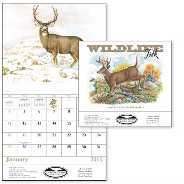 Imprinted Wildlife Trek - Stapled Appointment Calendar