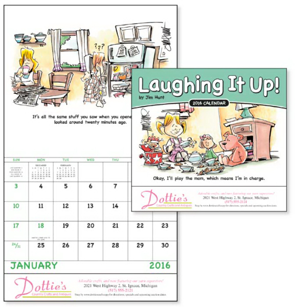 Customized Laughing It Up! - Stapled Appointment Calendar