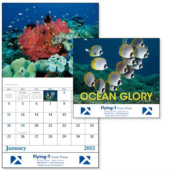 Personalized Ocean Glory - Stapled Appointment Calendar