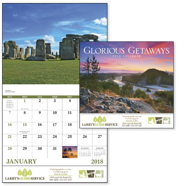 Promotional Glorious Getaways - Stapled Appointment Calendar