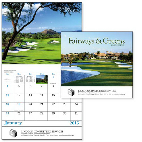 Printed Fairways & Greens - Stapled Appointment Calendar