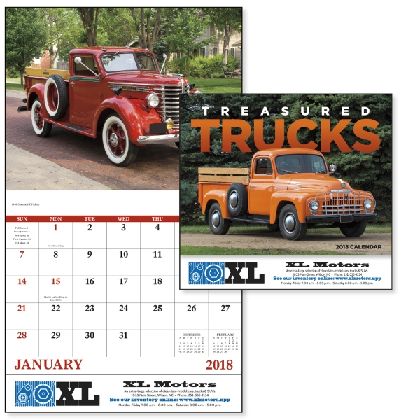 Custom Treasured Trucks - Stapled Appointment Calendar