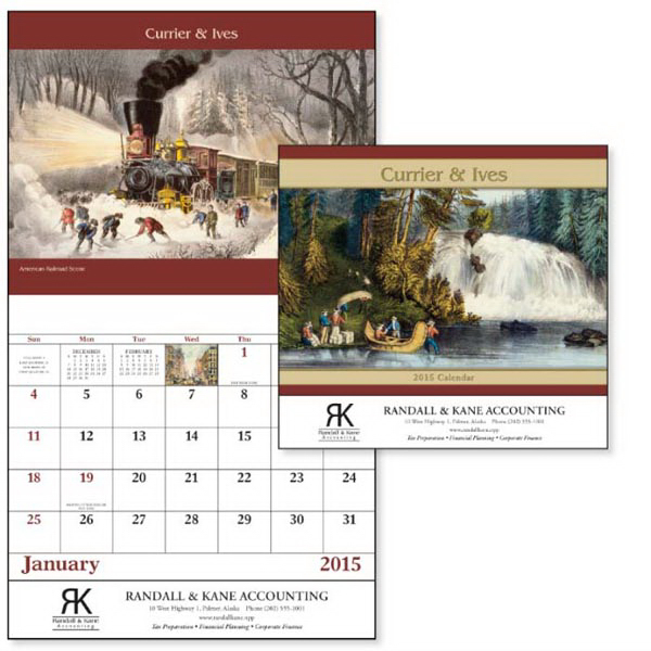 Custom Currier & Ives - Stapled Appointment Calendar