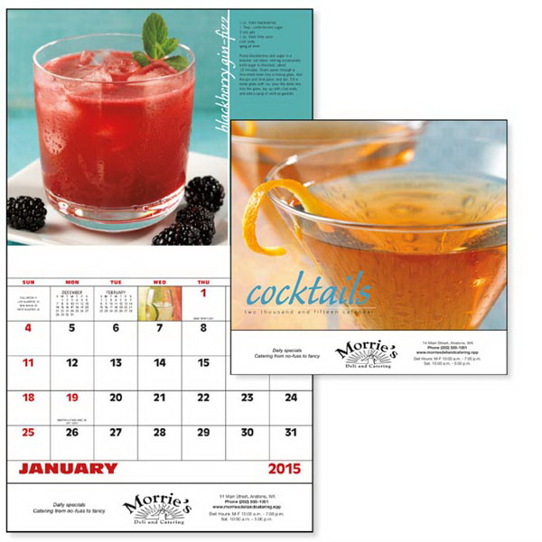 Personalized Cocktails - Stapled Appointment Calendar