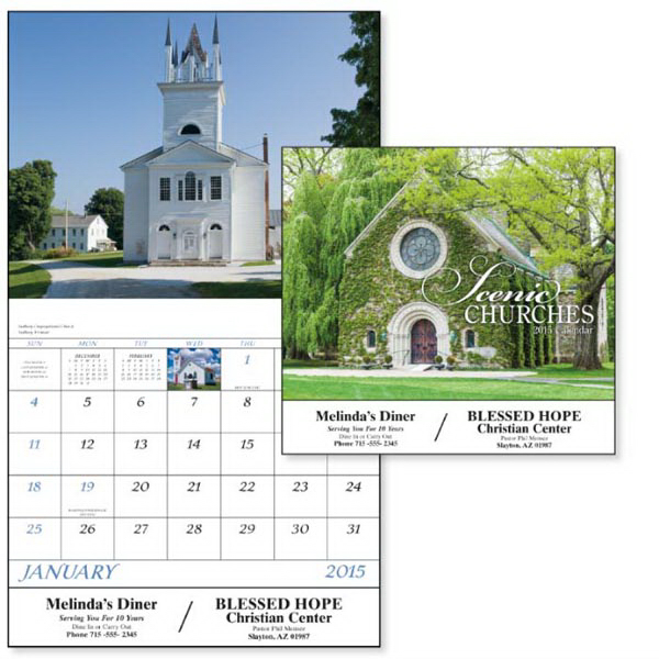 Custom Scenic Churches - Stapled Appointment Calendar