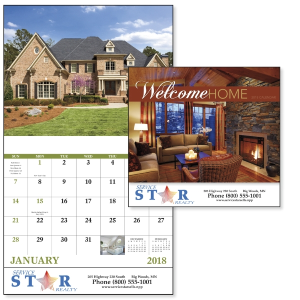 Promotional Welcome Home - Stapled Appointment Calendar