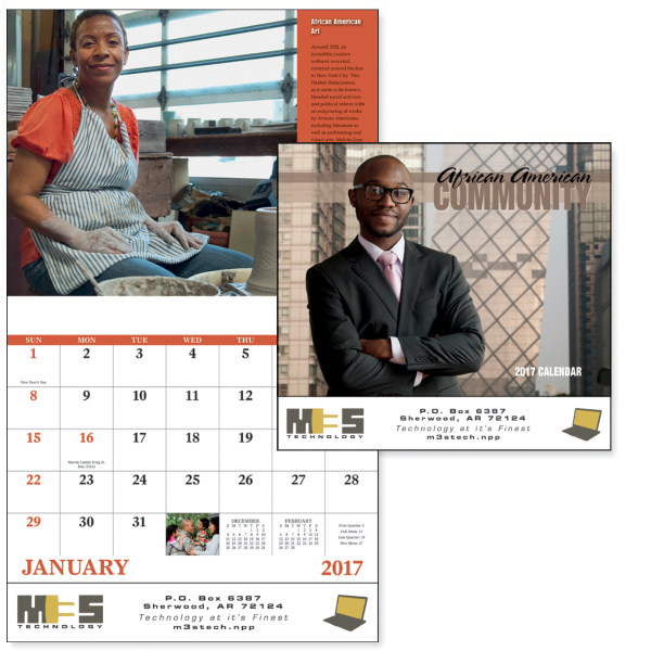 Personalized African-American Community - Stapled Appointment Calendar