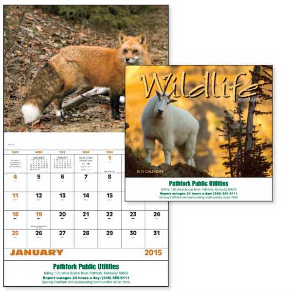 Promotional Wildlife Portraits - Stapled Appointment Calendar