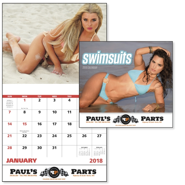 Printed Swimsuits - Stapled Appointment Calendar