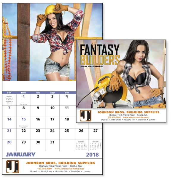 Custom Fantasy Builders - Stapled Appointment Calendar