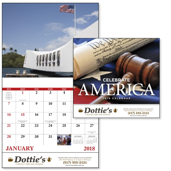 Custom Celebrate America - Stapled Appointment Calendar