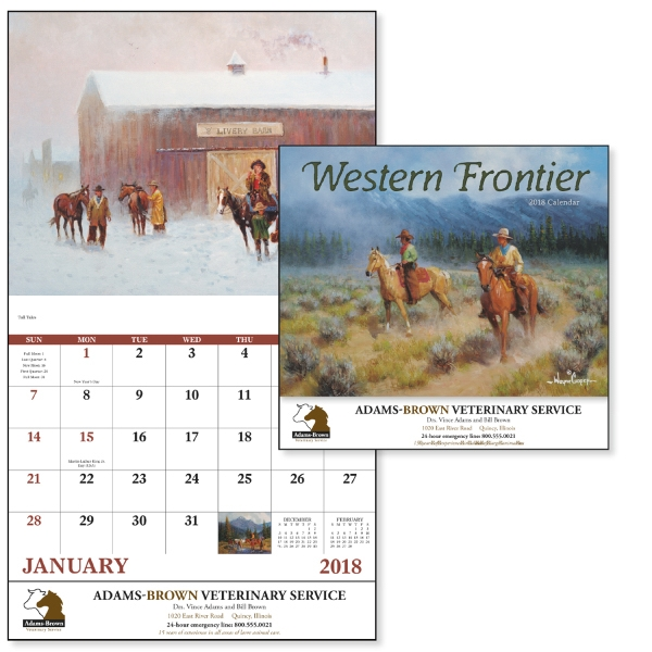 Customized Western Frontier - Stapled Appointment Calendar