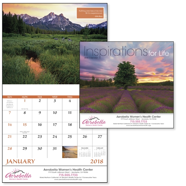 Printed Inspirations for Life - Stapled Appointment Calendar
