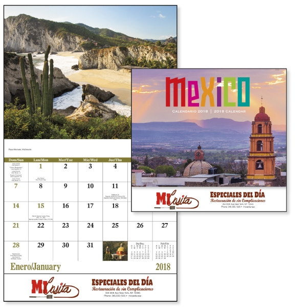 Promotional Mexico - Stapled Appointment Calendar