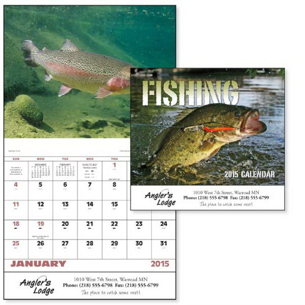 Custom Fishing - Stapled Appointment Calendar