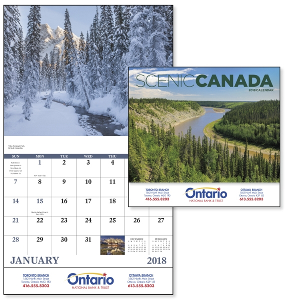 Promotional Scenic Canada - Stapled Appointment Calendar