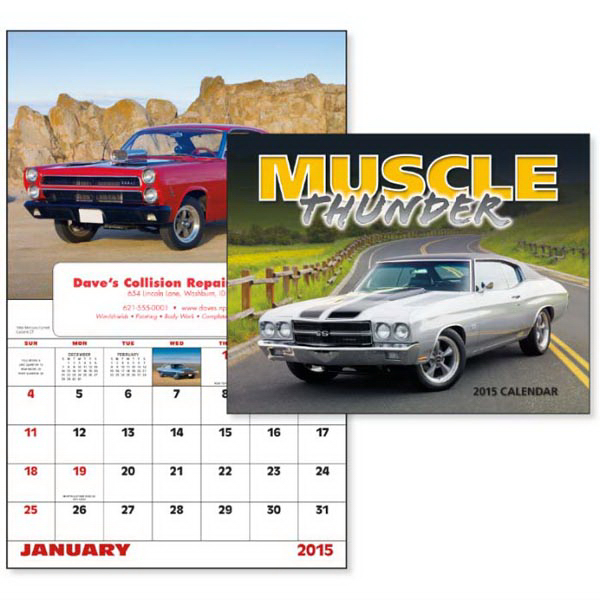 Imprinted Muscle Thunder - Window Appointment Calendar