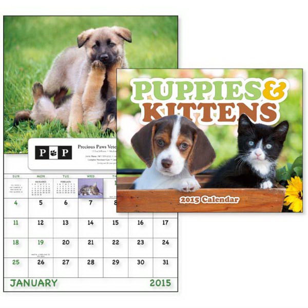 Personalized Puppies & Kittens - Window Appointment Calendar