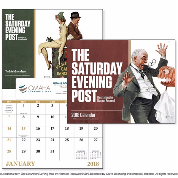 Promotional The Saturday Evening Post - Window Appointment Calendar