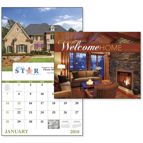 Printed Welcome Home - Window Appointment Calendar